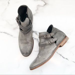 Free People Gray Ankle Boots